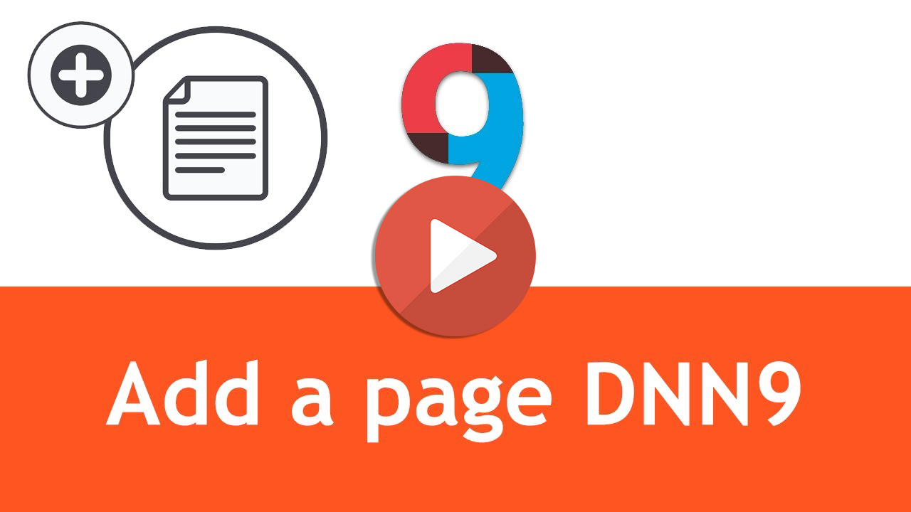 How to add a page to website built in DNN9