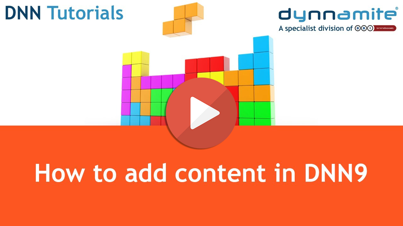 How to add content in DNN9